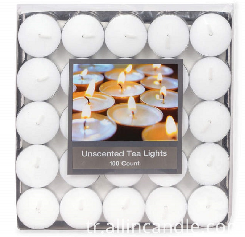 Unscented Tealights 100 Pack Silo